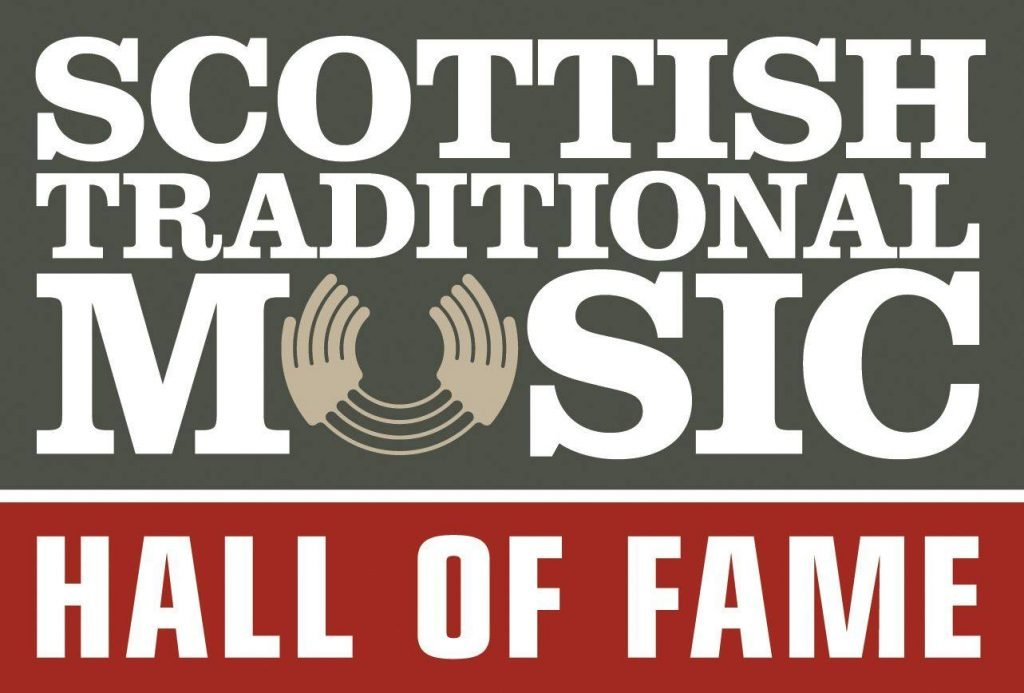 Graphic image with text 'Scottish Traditional Music Hall of Fame'